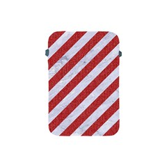 Stripes3 White Marble & Red Denim (r) Apple Ipad Mini Protective Soft Cases by trendistuff