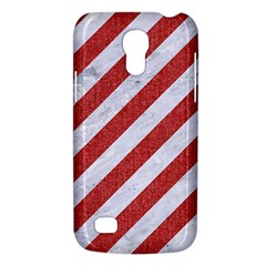 Stripes3 White Marble & Red Denim (r) Galaxy S4 Mini by trendistuff