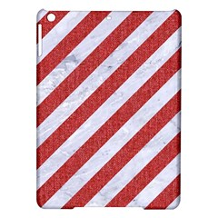 Stripes3 White Marble & Red Denim (r) Ipad Air Hardshell Cases by trendistuff