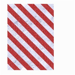 Stripes3 White Marble & Red Denim Large Garden Flag (two Sides) by trendistuff
