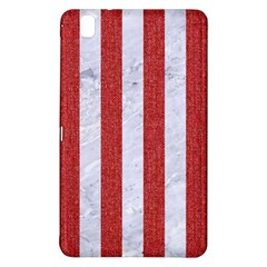Stripes1 White Marble & Red Denim Samsung Galaxy Tab Pro 8 4 Hardshell Case by trendistuff