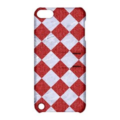 Square2 White Marble & Red Denim Apple Ipod Touch 5 Hardshell Case With Stand by trendistuff