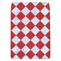 Square2 White Marble & Red Denim Flap Covers (l)  by trendistuff