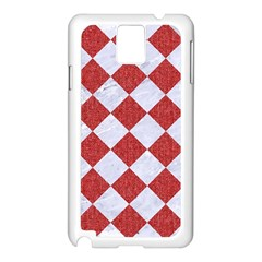 Square2 White Marble & Red Denim Samsung Galaxy Note 3 N9005 Case (white) by trendistuff