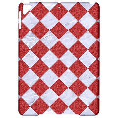 Square2 White Marble & Red Denim Apple Ipad Pro 9 7   Hardshell Case by trendistuff