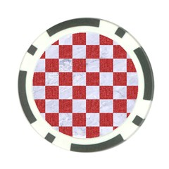 Square1 White Marble & Red Denim Poker Chip Card Guard (10 Pack) by trendistuff