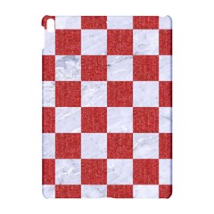 Square1 White Marble & Red Denim Apple Ipad Pro 10 5   Hardshell Case by trendistuff