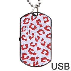 Skin5 White Marble & Red Denim Dog Tag Usb Flash (one Side) by trendistuff