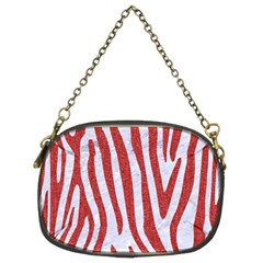 Skin4 White Marble & Red Denim Chain Purses (two Sides)  by trendistuff