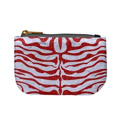 Skin2 White Marble & Red Denim (r) Mini Coin Purses by trendistuff