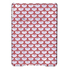 Scales3 White Marble & Red Denim (r) Ipad Air Hardshell Cases by trendistuff