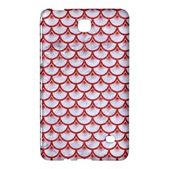 Scales3 White Marble & Red Denim (r) Samsung Galaxy Tab 4 (8 ) Hardshell Case  by trendistuff