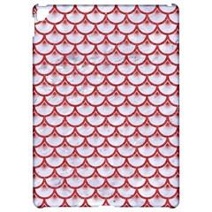 Scales3 White Marble & Red Denim (r) Apple Ipad Pro 12 9   Hardshell Case by trendistuff