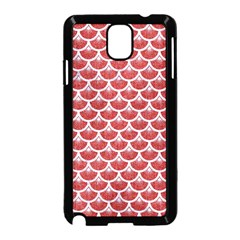 Scales3 White Marble & Red Denim Samsung Galaxy Note 3 Neo Hardshell Case (black) by trendistuff