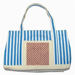 Scales2 White Marble & Red Denim (r) Striped Blue Tote Bag by trendistuff