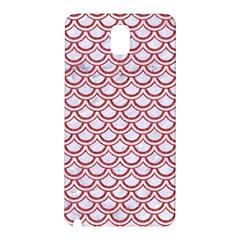 Scales2 White Marble & Red Denim (r) Samsung Galaxy Note 3 N9005 Hardshell Back Case