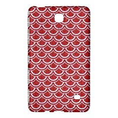 Scales2 White Marble & Red Denim Samsung Galaxy Tab 4 (7 ) Hardshell Case  by trendistuff