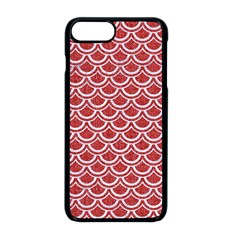 Scales2 White Marble & Red Denim Apple Iphone 8 Plus Seamless Case (black) by trendistuff