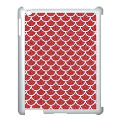 Scales1 White Marble & Red Denim Apple Ipad 3/4 Case (white) by trendistuff