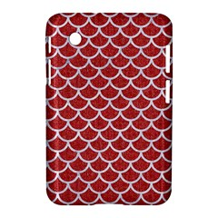Scales1 White Marble & Red Denim Samsung Galaxy Tab 2 (7 ) P3100 Hardshell Case  by trendistuff