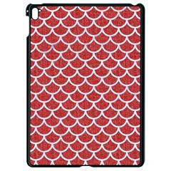 Scales1 White Marble & Red Denim Apple Ipad Pro 9 7   Black Seamless Case by trendistuff