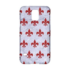 Royal1 White Marble & Red Denim Samsung Galaxy S5 Hardshell Case  by trendistuff