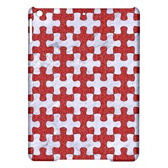 Puzzle1 White Marble & Red Denim Ipad Air Hardshell Cases by trendistuff