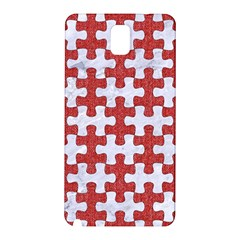 Puzzle1 White Marble & Red Denim Samsung Galaxy Note 3 N9005 Hardshell Back Case