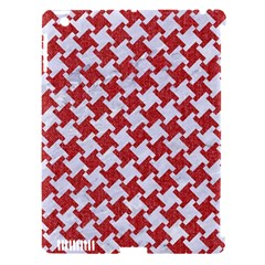 Houndstooth2 White Marble & Red Denim Apple Ipad 3/4 Hardshell Case (compatible With Smart Cover) by trendistuff