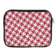 Houndstooth2 White Marble & Red Denim Apple Ipad 2/3/4 Zipper Cases by trendistuff