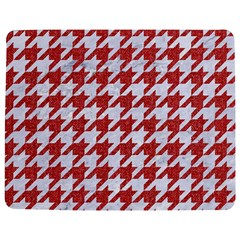 Houndstooth1 White Marble & Red Denim Jigsaw Puzzle Photo Stand (rectangular) by trendistuff