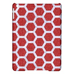 Hexagon2 White Marble & Red Denim Ipad Air Hardshell Cases by trendistuff