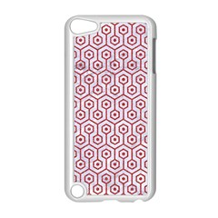 Hexagon1 White Marble & Red Denim (r) Apple Ipod Touch 5 Case (white) by trendistuff