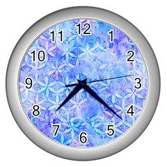 Flower Of Life Paint Pattern 8jpg Wall Clocks (silver)  by Cveti