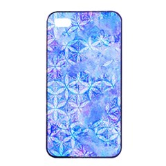 Flower Of Life Paint Pattern 8jpg Apple Iphone 4/4s Seamless Case (black)