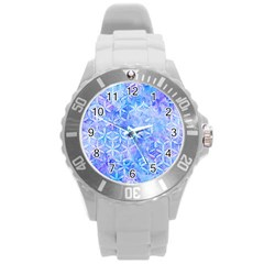 Flower Of Life Paint Pattern 8jpg Round Plastic Sport Watch (l) by Cveti