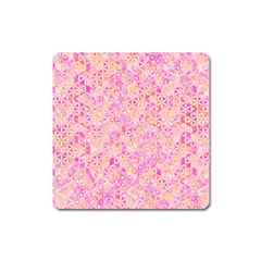 Flower Of Life Paint Pattern 9 Square Magnet by Cveti