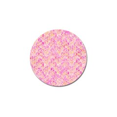 Flower Of Life Paint Pattern 9 Golf Ball Marker (4 Pack) by Cveti