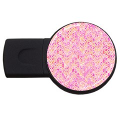 Flower Of Life Paint Pattern 9 Usb Flash Drive Round (2 Gb) by Cveti