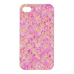 Flower Of Life Paint Pattern 9 Apple Iphone 4/4s Hardshell Case by Cveti