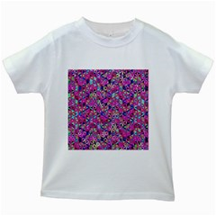 Flower Of Life Paint Pattern 10 Kids White T Shirts