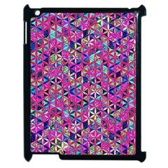 Flower Of Life Paint Pattern 10 Apple Ipad 2 Case (black) by Cveti