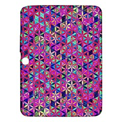Flower Of Life Paint Pattern 10 Samsung Galaxy Tab 3 (10 1 ) P5200 Hardshell Case  by Cveti