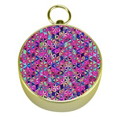 Flower Of Life Paint Pattern 10 Gold Compasses by Cveti