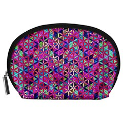Flower Of Life Paint Pattern 10 Accessory Pouches (large)  by Cveti