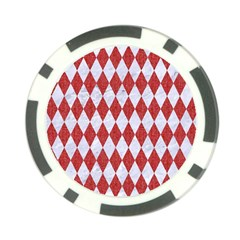 Diamond1 White Marble & Red Denim Poker Chip Card Guard (10 Pack) by trendistuff