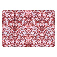 Damask2 White Marble & Red Denim (r) Samsung Galaxy Tab 8 9  P7300 Flip Case by trendistuff