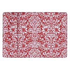 Damask2 White Marble & Red Denim Samsung Galaxy Tab 10 1  P7500 Flip Case by trendistuff