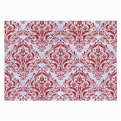 Damask1 White Marble & Red Denim (r) Large Glasses Cloth by trendistuff