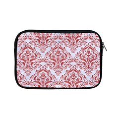 Damask1 White Marble & Red Denim (r) Apple Ipad Mini Zipper Cases by trendistuff
